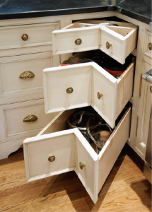 Angled Front Drawers - White