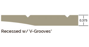 Recessed with V-Groove